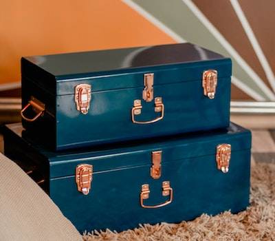 Budget for vacay_2_two-blue-metal-storage-boxes-2112638